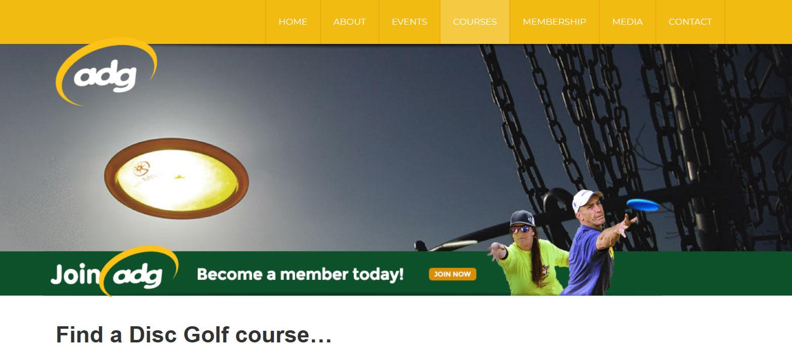Australian Disc Golf course finder