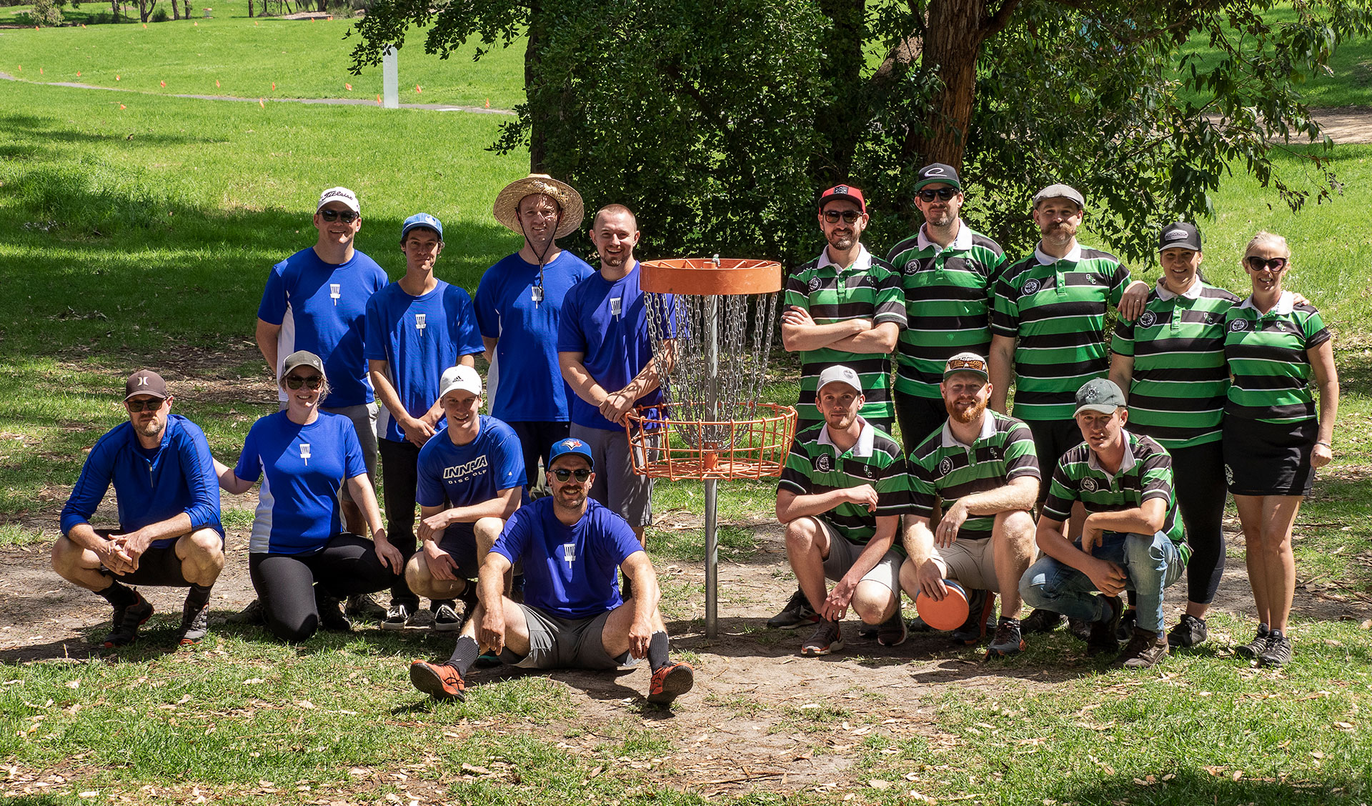 Melbourne and Geelong disc golf teams for the 2020 Westgate Cup