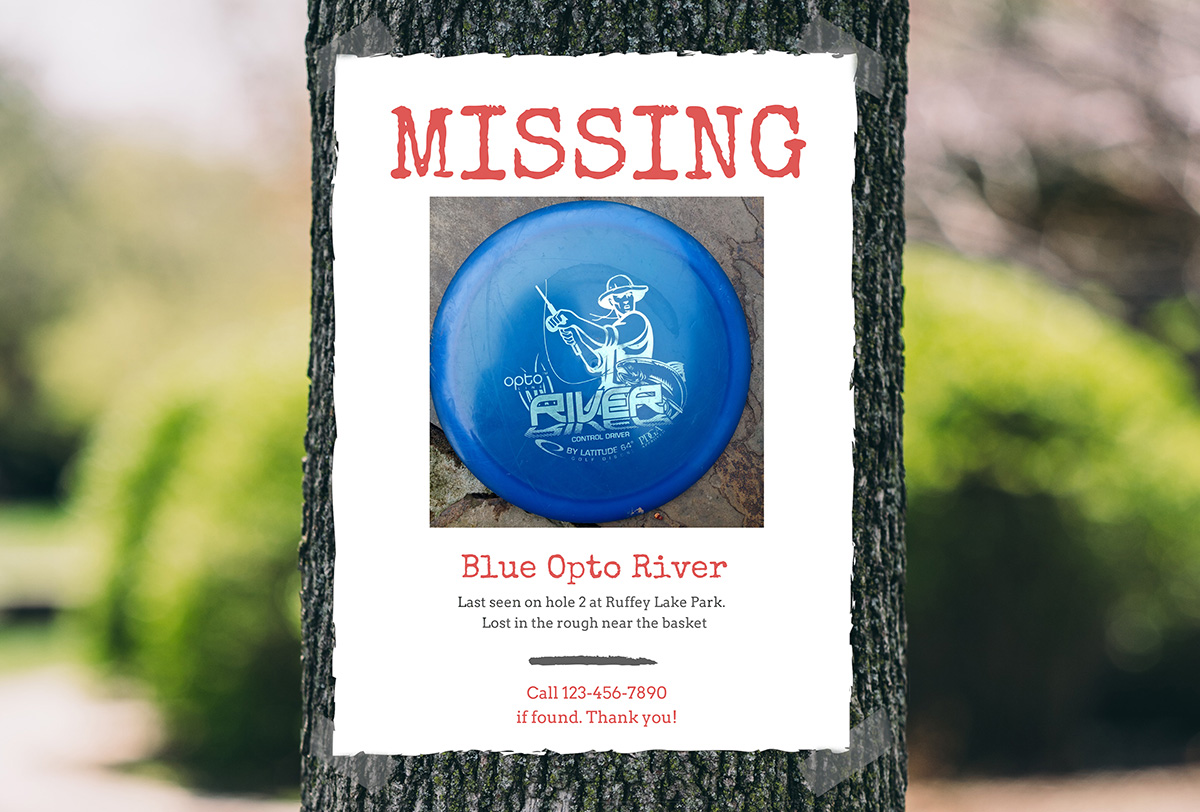 Lost disc poster