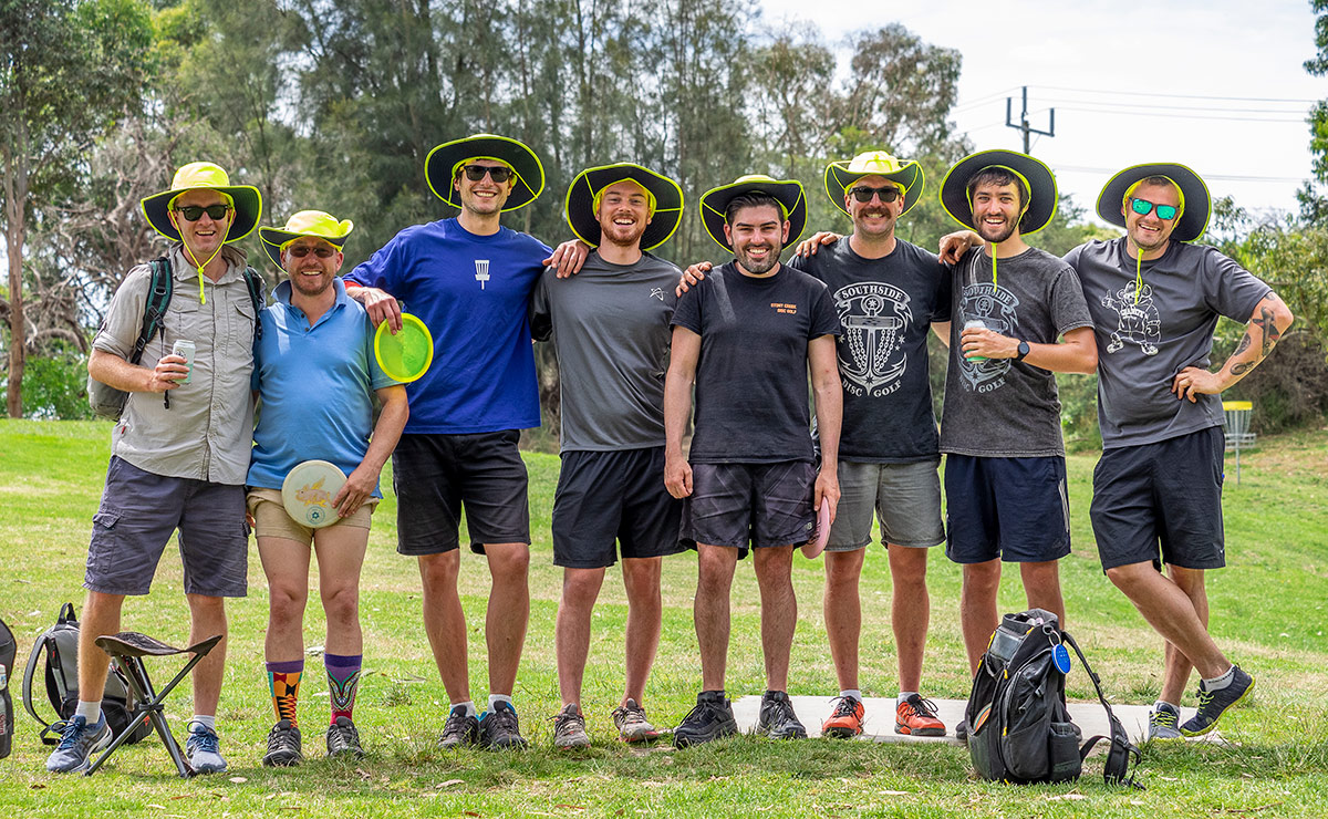 After 80 holes of disc golf, the crew are looking refreshed and ready to head out for the final 20.