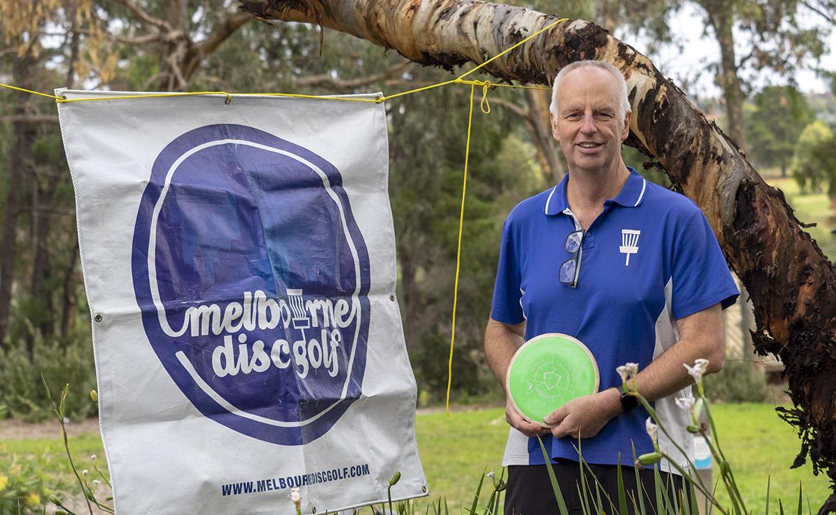 David Heath, winner of the May Social Disc Golf Day at Ruffey Lake Park.