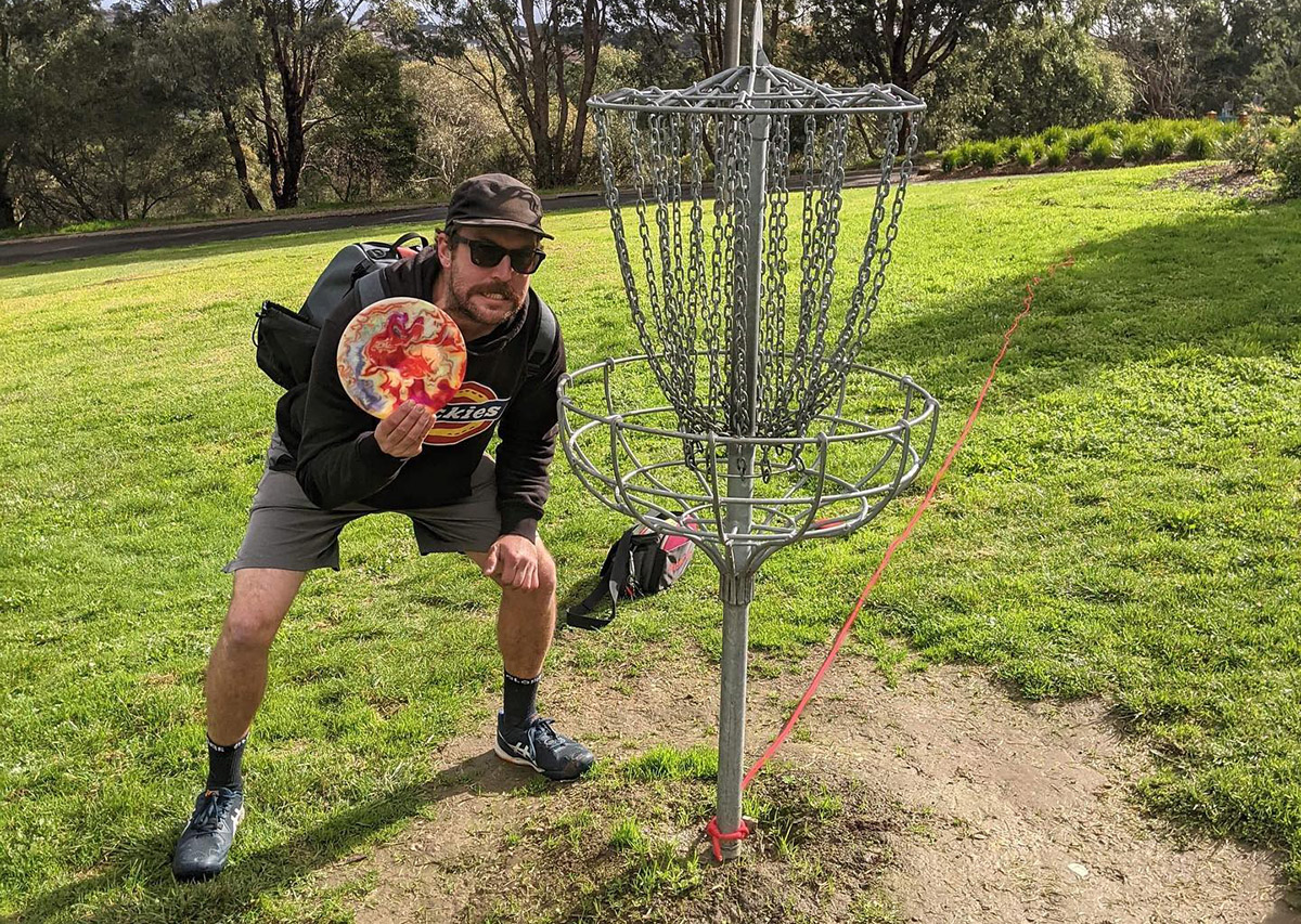 Disc Golf hole in one