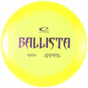 Latitude 64 Ballista yellow with purple stamp